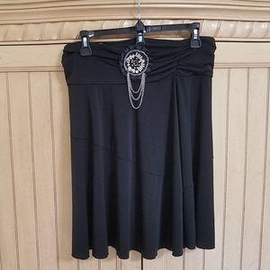 Black Stretch Skirt, sz XL